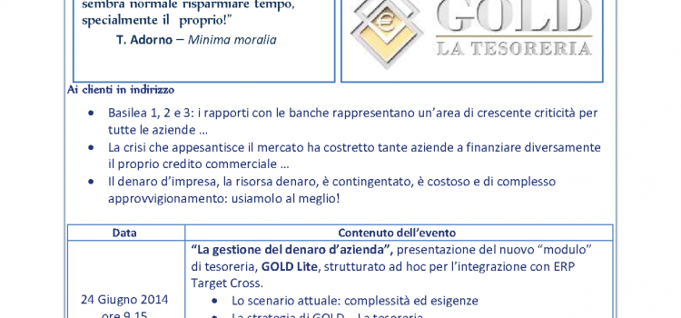 La gestione del denaro d'azienda